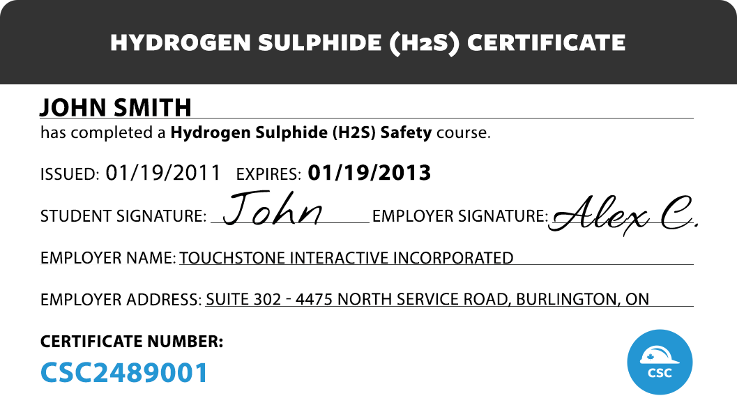 Canada Safety Compliance Hydrogen Sulfide H2s Safety